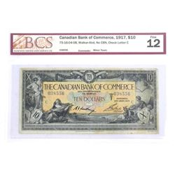 Canadian Bank of Commerce 1917 Ten Dollar. Fine 12