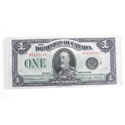 Dominion of Canada 1923 - One Dollar Black Seal. (Estate).