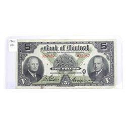 1942 Bank of Montreal 5.00 VF+