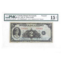 Banque Du Canada FRENCH 2.00 15 Choice Fine Osborn