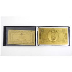 24kt Gold Leaf Banknote Collection - Italy Lire