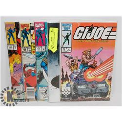 5 GI JOE COLLECTORS COMICS