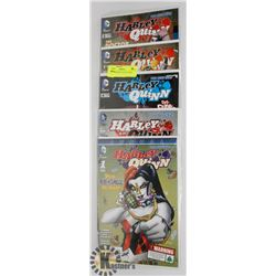 5 HARLEY QUINN COLLECTORS COMICS