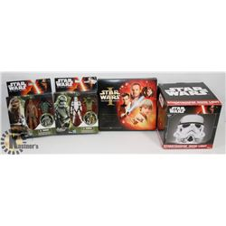 FLAT OF ASSORTED STAR WARS TOYS/ COLLECTIBLES