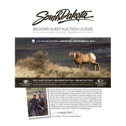 2020 South Dakota Bighorn Sheep Auction License
