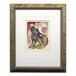 "Salvador Dali- Original Color Woodcut on B.F.K. Rives Paper ""Hell Canto 12"""