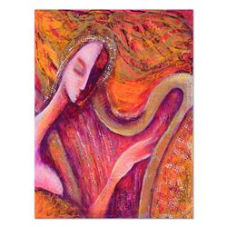 Nadia Volna, Original Acrylic Painting on Gallery Wrapped Canvas, Hand Signed with Certificate of Au