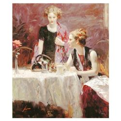 """Pino (1931-2010), """"After Dinner"""" Limited Edition on Canvas, Numbered and Hand Signed with Certificat"""