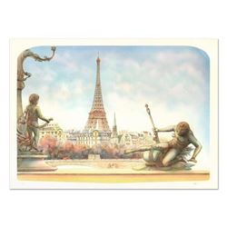 """Rolf Rafflewski, """"Eiffel Tower"""" Limited Edition Lithograph, Numbered and Hand Signed."""