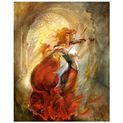 """Lena Sotskova, """"Firebird"""" Original Painting, Oil on Canvas. Hand Signed and with COA."""