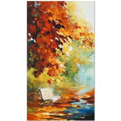 """Leonid Afremov """"Respite Spot"""" Limited Edition Giclee on Canvas, Numbered and Signed; Certificate of"""