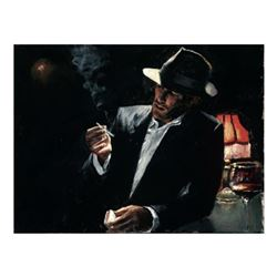 """Fabian Perez, """"Enjoying the Pleasures of the Night"""" Hand Textured Limited Edition Giclee on Board. H"""