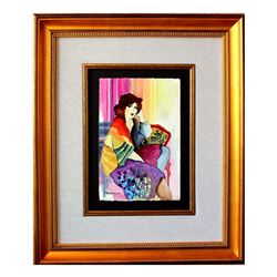 "Patricia Govezensky- Original Watercolor ""Peaceful Moments"""