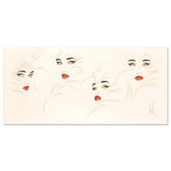 """Steve Leal, """"Four Faces"""" Limited Edition Serigraph, Numbered and Hand Signed with Letter of Authenti"""