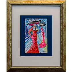 "Patricia Govezensky- Original Watercolor ""Bal Masqué"""