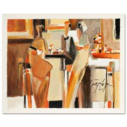 """Bar Scene I"" Limited Edition Serigraph by Yuri Tremler, Hand Signed with Certificate of Authenticit"