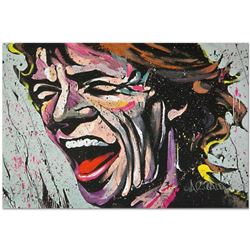 """""""Mick Jagger"""" Limited Edition Giclee on Canvas by David Garibaldi, Numbered and Signed with Certific"""