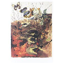 """Salvador Dali- Original Lithograph """"Auvergne"""""""