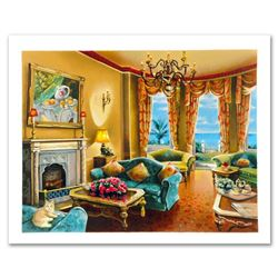 """Anatoly Metlan, """"Sunny Day in Florida"""" Limited Edition Serigraph, Numbered and Hand Signed with Cert"""