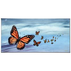 """""""Monarch Migration"""" Limited Edition Giclee on Canvas by Martin Katon, Numbered and Hand Signed with"""