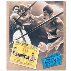 Licensed Photograph of the Heavyweight Champs Muhammad Ali and Ken Norton.