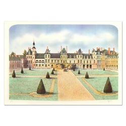 """Rolf Rafflewski, """"Chateau de Fontainebleau"""" Limited Edition Lithograph, Numbered and Hand Signed."""