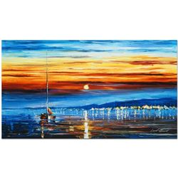 "Leonid Afremov ""Bright Star"" Limited Edition Giclee on Canvas, Numbered and Signed; Certificate of A"