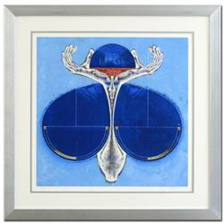 "Lu Hong, ""Libra"" Framed Limited Edition Giclee, Numbered and Hand Signed with COA."