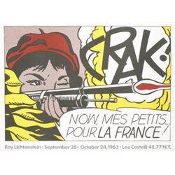 """Roy Lichtenstein """"Crak!"""" Lithograph"""