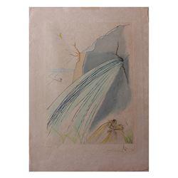"Salvador Dali- Original engravings with color ""The Rock"""