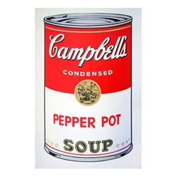 """Andy Warhol """"Soup Can 11.51 (Pepper Pot)"""" Silk Screen Print from Sunday B Morning."""