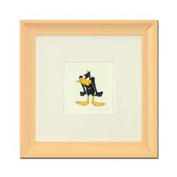 """""""Daffy Duck (Angry)"""" Framed Limited Edition Etching with Hand-Tinted Color and Numbered."""