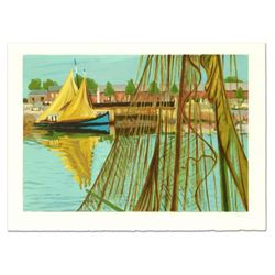 """Laurent Marcel Salinas (1913-2010), """"Sailboat"""" Limited Edition Serigraph, Numbered and Hand Signed w"""