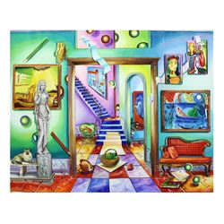 "Alexander Astahov- Original Oil on Canvas ""Colorful Room"""