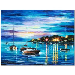 """Leonid Afremov """"Out All Night"""" Limited Edition Giclee on Canvas, Numbered and Signed; Certificate of"""