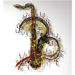 "Patricia Govezensky- Original Painting on Cutout Steel ""Orchestra"""
