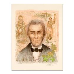 """Edna Hibel (1917-2014), """"Abraham Lincoln"""" Limited Edition Lithograph with Remarque, Numbered and Han"""