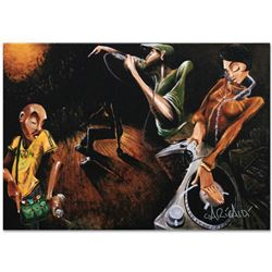 """""""The Get Down"""" Limited Edition Giclee on Canvas (36"""" x 24"""") by David Garibaldi, AP Numbered and Sign"""