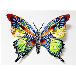 "Patricia Govezensky- Original Painting on Cutout Steel ""Butterfly CXV"""
