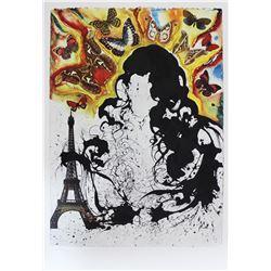 """Salvador Dali- Original Lithograph """"Paris"""""""