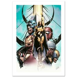 """""""New Avengers #10"""" Limited Edition Giclee on Canvas by David Finch and Marvel Comics. Numbered and H"""