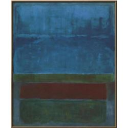 """Mark Rothko """"Untitled (Blue, Green, and Brown )"""" Custom Framed Offset Lithograph"""