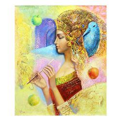 "Taras Sidan- Original Oil on Canvas ""Egyptian Lady"""