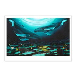 """Wyland -""""Humpback Dance"""" Limited Edition Giclee on Canvas (35"""" x 24""""), Numbered and Hand Signed with"""