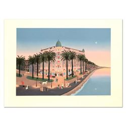 """Fabienne Delacroix, """"Seaside"""" Limited Edition Lithograph, Numbered and Hand Signed with Letter of Au"""