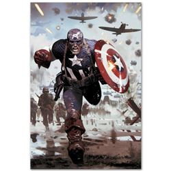 """Marvel Comics """"Captain America #615"""" Numbered Limited Edition Giclee on Canvas by Daniel Acuna with"""