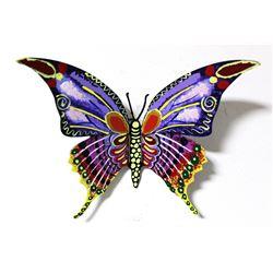 "Patricia Govezensky- Original Painting on Cutout Steel ""Butterfly CXXX"""