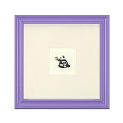 """""""Pepe Le Pew in Love"""" Framed Limited Edition Etching with Hand-Tinted Color and Numbered."""