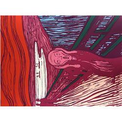 "Andy Warhol- Silk Screen ""Munch's 'The Scream' - Pink"""