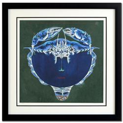 """Lu Hong, """"Cancer"""" Framed Limited Edition Giclee, Numbered and Hand Signed with COA."""